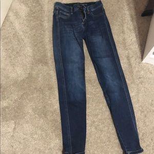 Women's New York & co Jean leggings size 0
